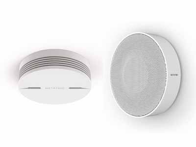 「Smart Smoke Alarm」(左)と、「Indoor Security Siren」(右)