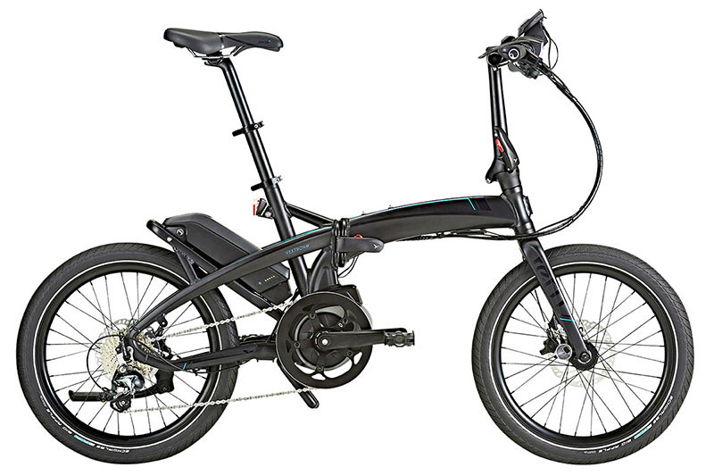 "Ternの<a href=""https://www.ternbicycles.jp/2018/products/Vektron/"" class=""n"" target=""_blank"">「Vektron S10」</a>。ミニベロタイプのe-bikeで、折り畳むこともできます。価格は29万8,000円(税抜)"