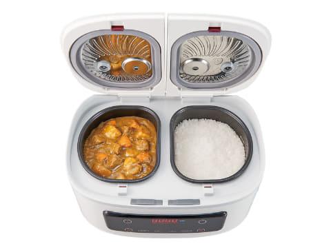 2つの内鍋でカレーとごはんを同時調理できる自動調理鍋「ツインシェフ ...