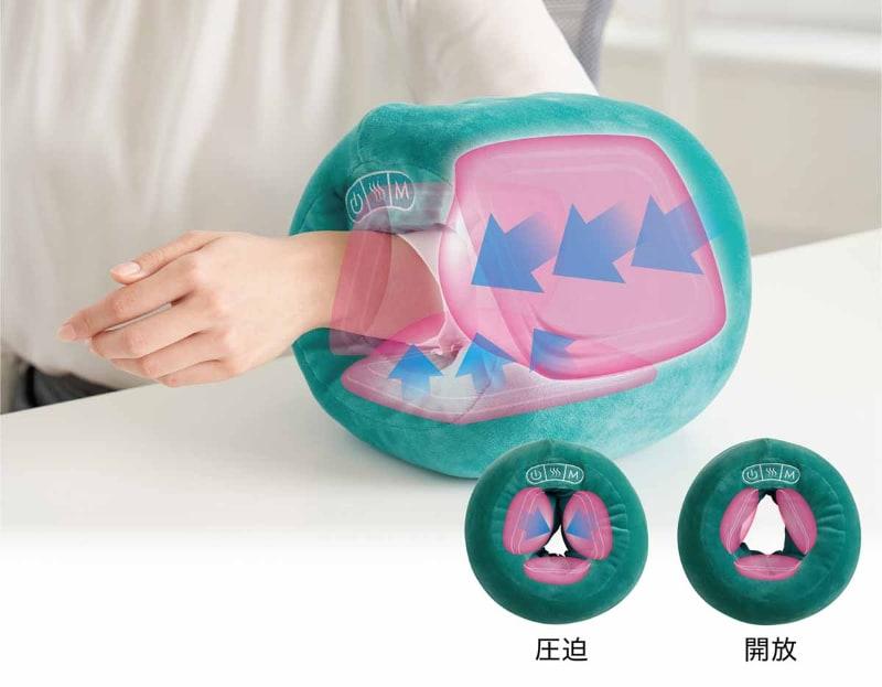 内蔵するエアバッグが圧迫・開放を繰り返す