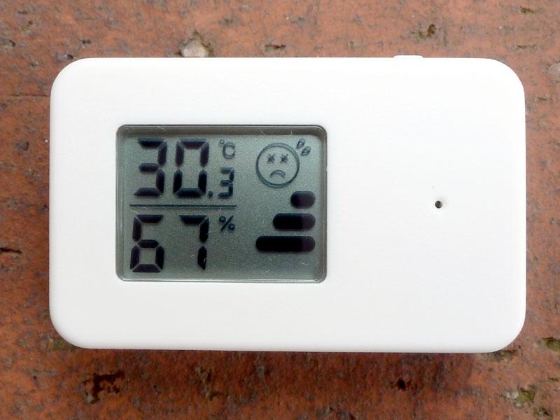 無印良品「携帯用温湿度計 OC246W」