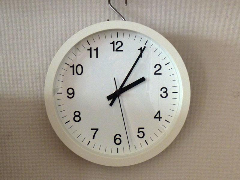 無印良品「ウォールクロック・ホワイト 掛時計」