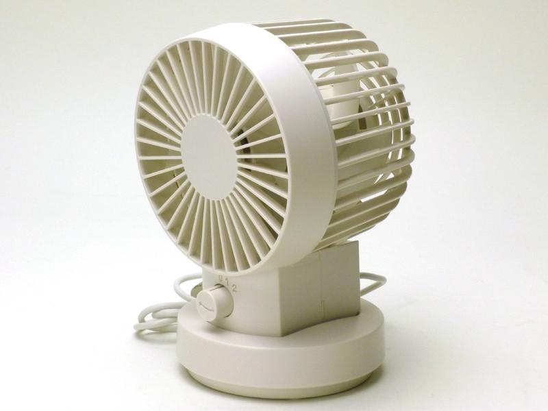 中古美品 無印良品 muji USB デスクファン 首振り 白 扇風機_3
